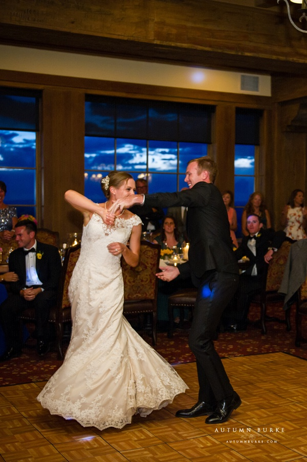 colorado mountain wedding first dance game creek restaurant vail