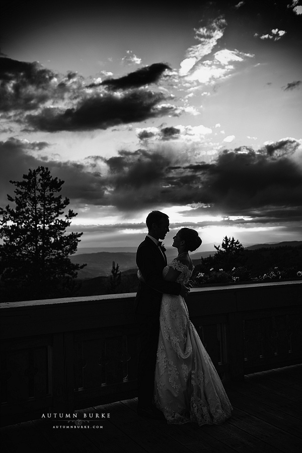 vail mountain wedding colorado game creek restaurant sunset dramatic