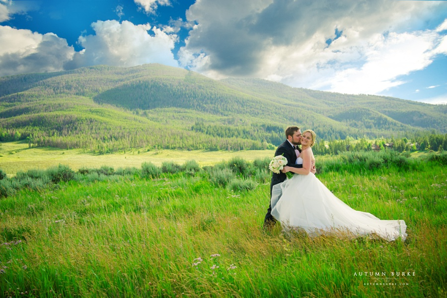 keystone ranch colorado mountain wedding bride and groom