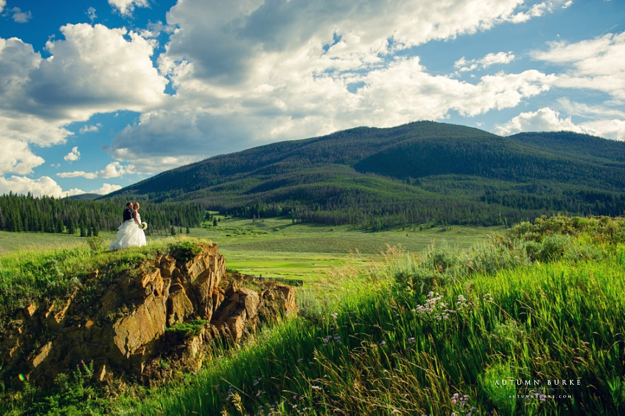 keystone ranch wedding bride and groom dramatic portrait