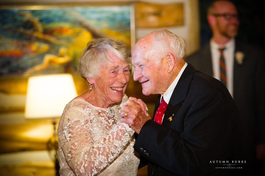 grandparents on the dance floor colorado wedding