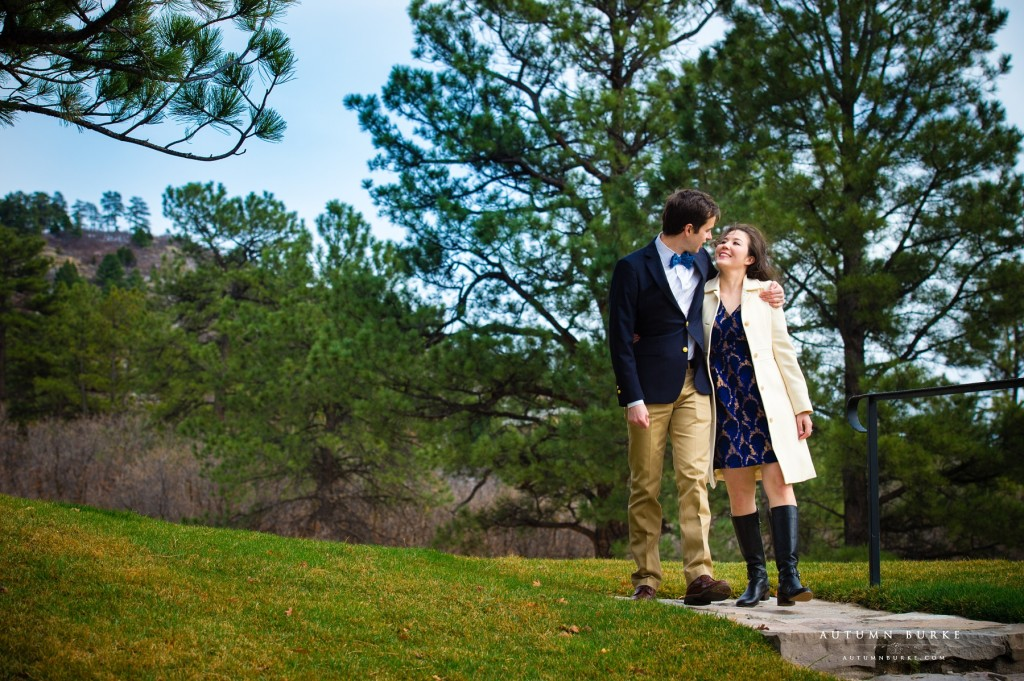 castle pines colorado wedding engagement portrait session