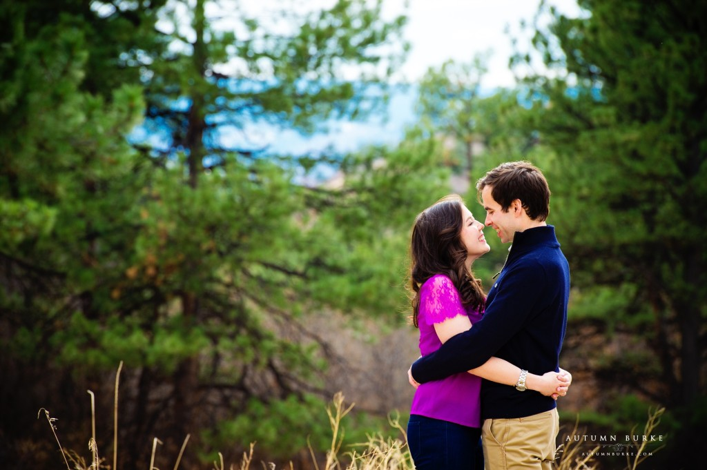 denver colorado wedding engagement session outdoors