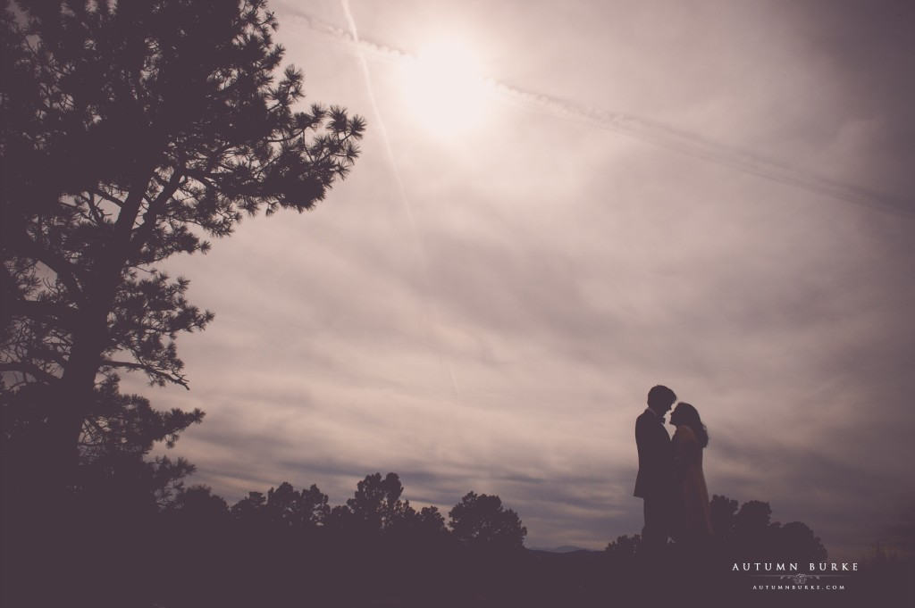 colorado engagement session photography silhouette