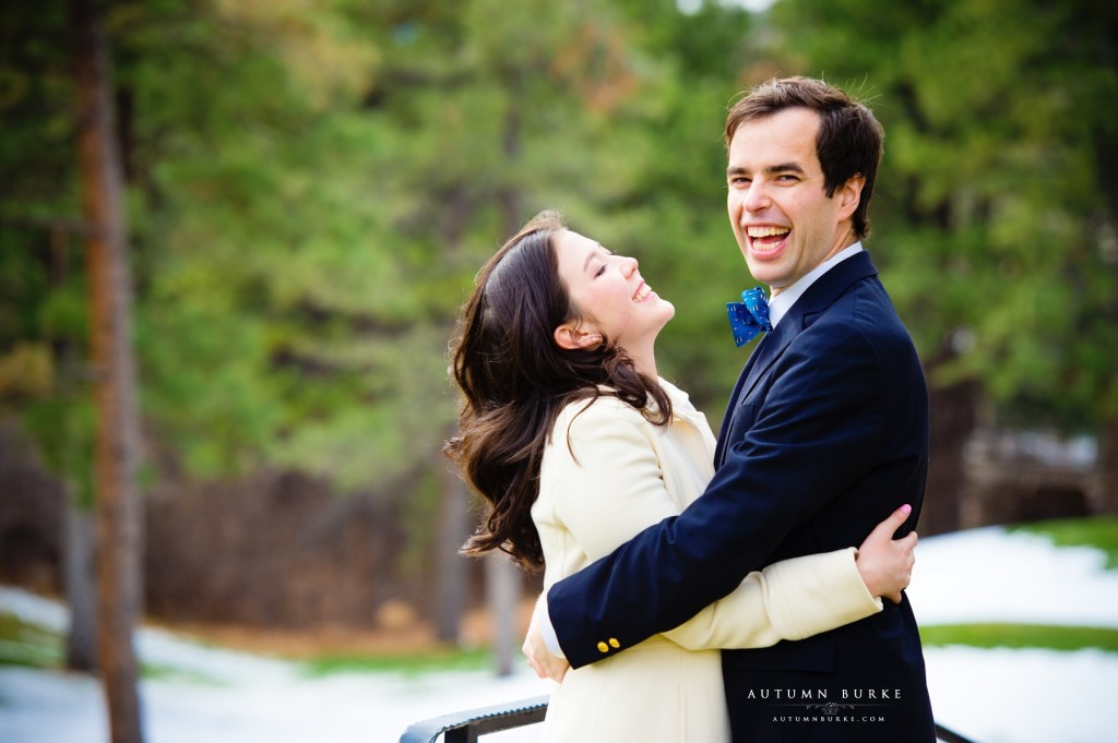 denver colorado wedding engagement laughter