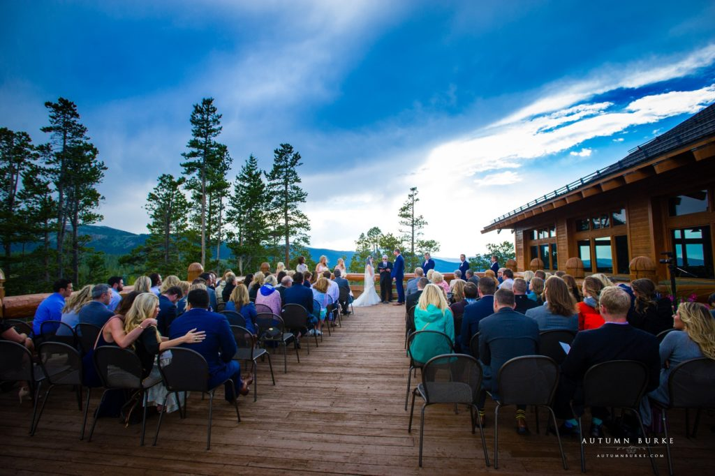 winter park colorado wedding ceremony lodge at sunspot
