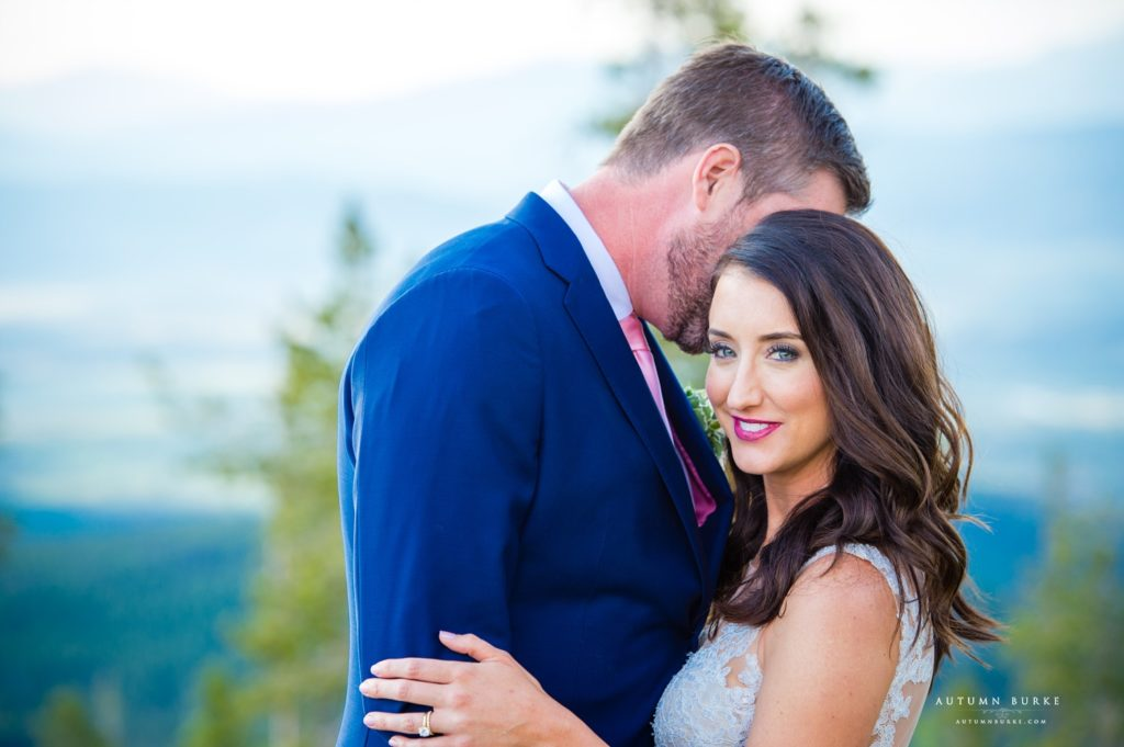 winter park colorado mountain wedding bride and groom