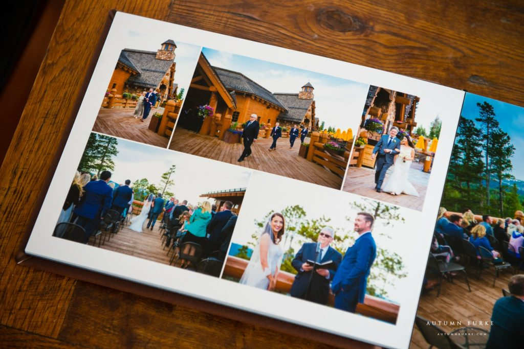 colorado wedding ceremony photography winter park wedding album lodge at sunspot