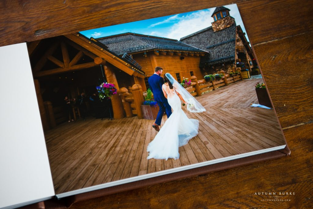 colorado wedding photography winter park wedding album lodge at sunspot wedding deck ceremony
