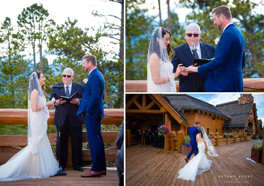 wedding ceremony lodge at sunspot winter park