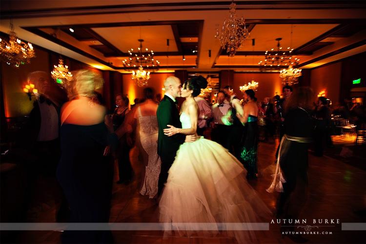 Four Seasons Vail Colorado Wedding Reception Bride Groom Dance