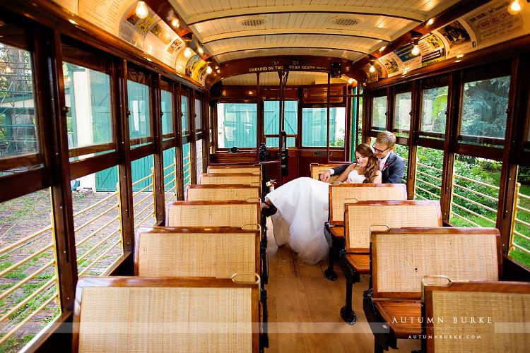 Colorado Wedding Fort Collins Trolley Bride And Groom