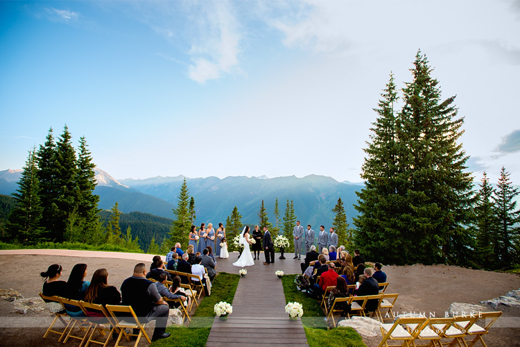 Little Nell Aspen Colorado Wedding Deck Ceremony