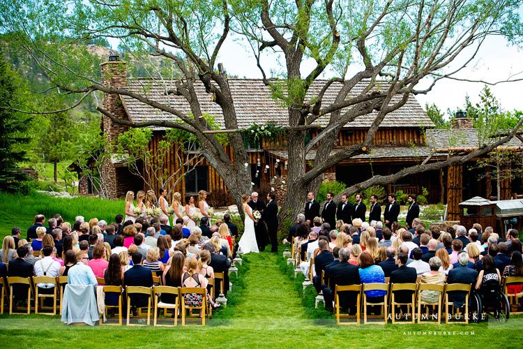 Spruce Mountain Ranch Wedding Larkspur Colorado Ceremony